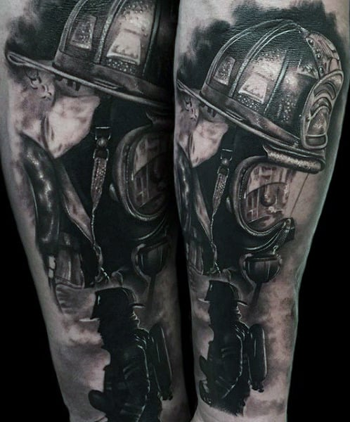 Tattoos For Male Firefighters