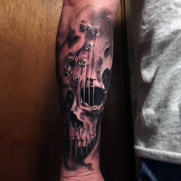 Tattoos Guitar On Men