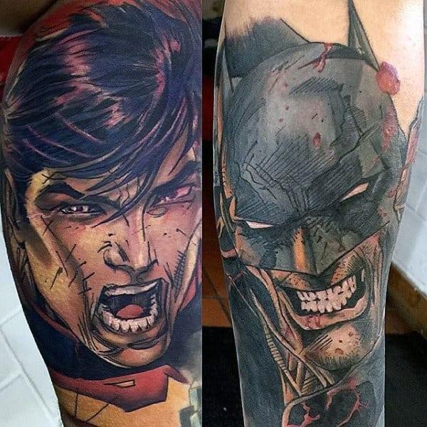 Tattoos Guys Batman Design Ideas