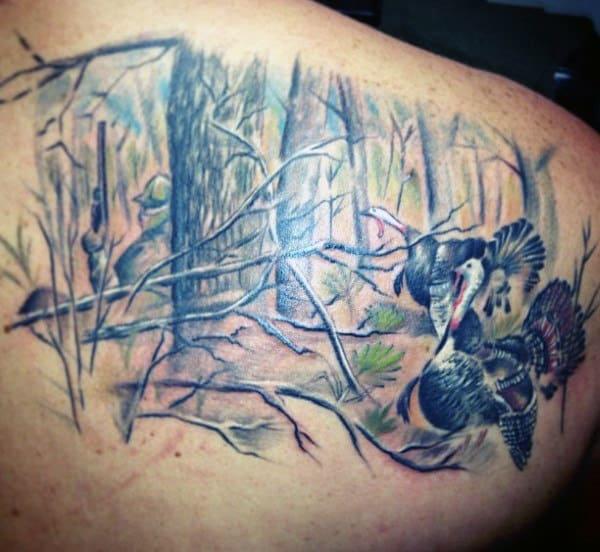 Tattoos Hunting Men On Back
