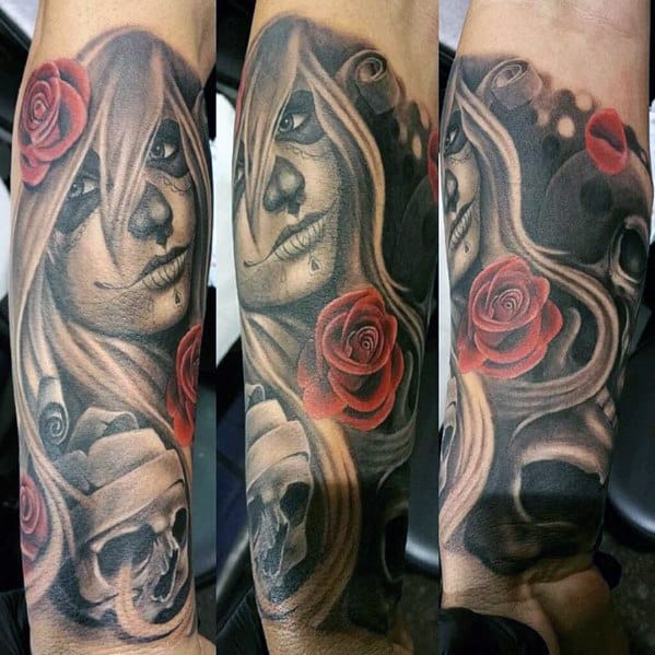 Rose Tattoos Ideas For Men Upper Arm