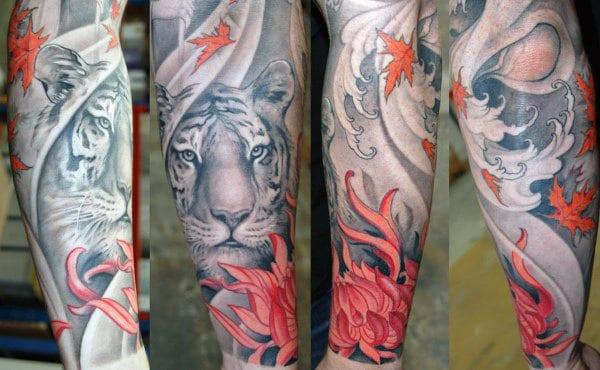 Tattoos Male Tigers