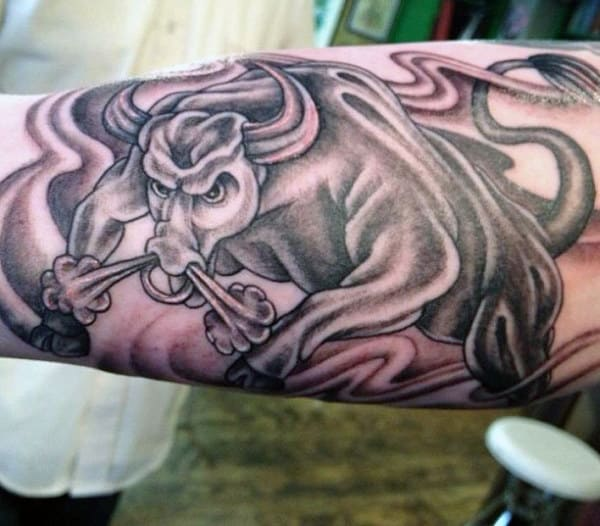 Tattoos Of A Bull For Guys