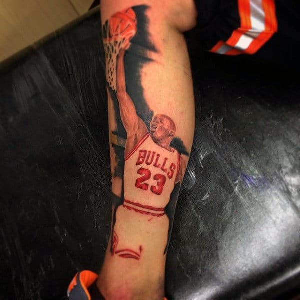 Tattoos Of Basketballs Men