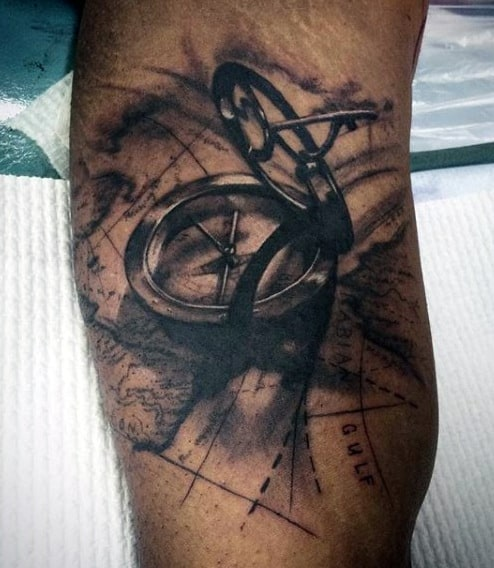 Tattoos Of Compass For Men