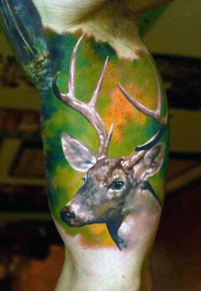 Tattoos Of Deer Antlers For Men