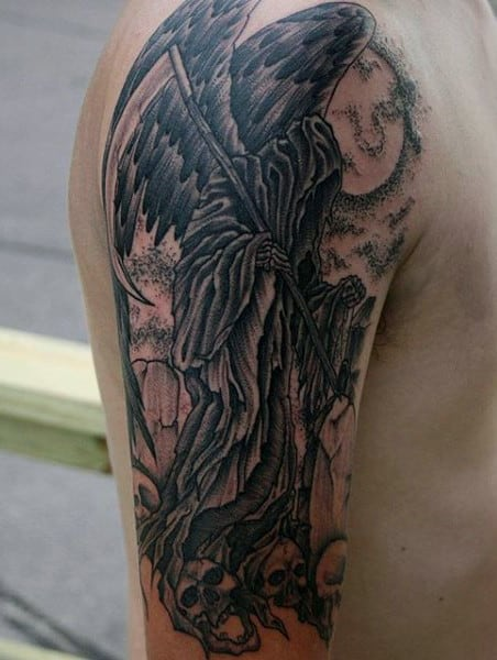 Tattoos Of Grim Reapers On Guys