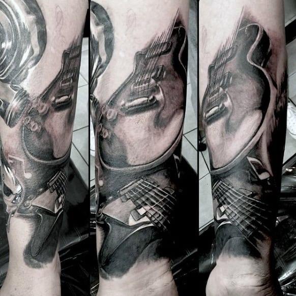Tattoos Of Guitars For Men