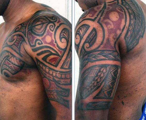 Traditional Tattoos Of Hawaiian Tribal Designs For Men