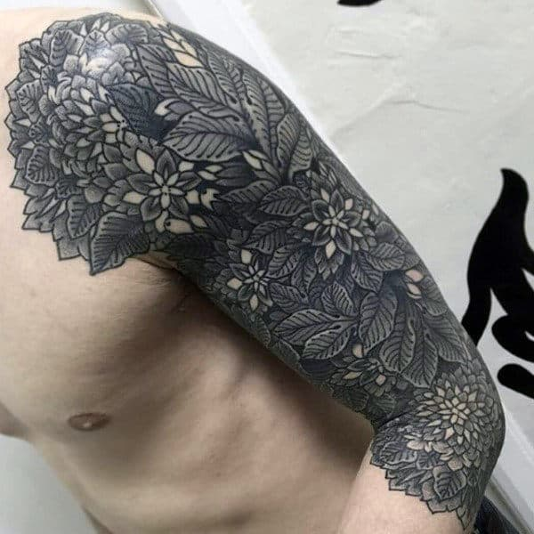 Tattoos Of Leaves And Vines For Men Half Sleeve