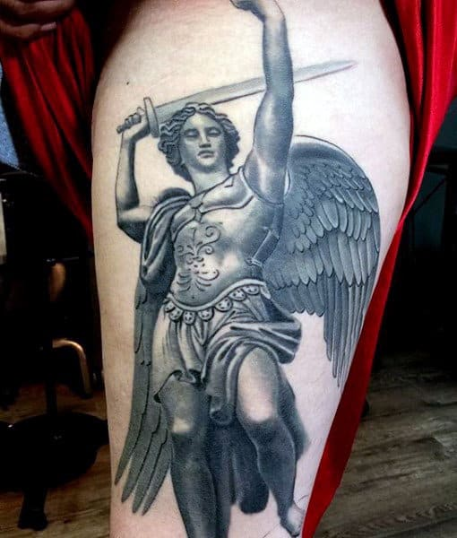 Tattoos Of Micheal The Archangel For Guys