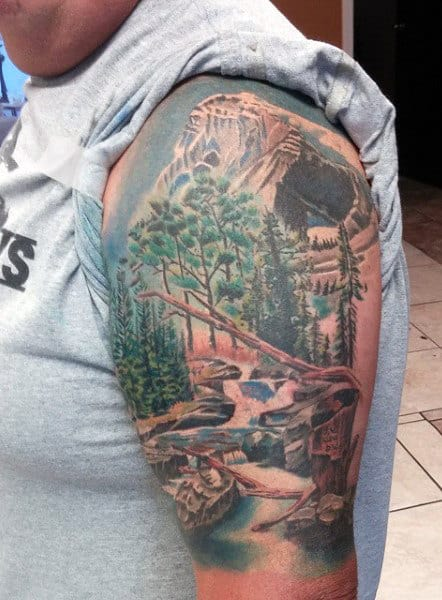 Tattoos Of Mountains For Men