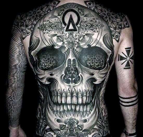 Tatuajes De Calavera En La Espalda