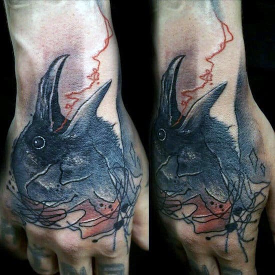 Bird Tattoos On Hands And Fingers