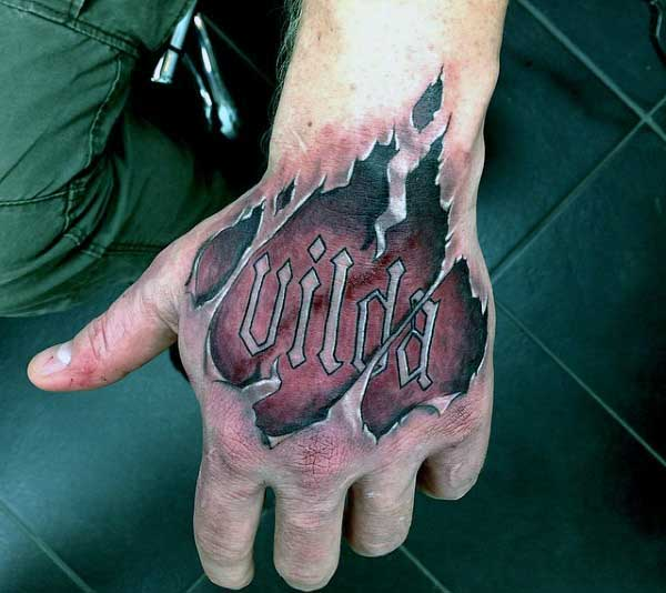 Tattoos Ripping Out Of Skin For Men On Hands