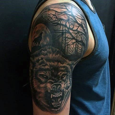 Tattoos Wolf Mens