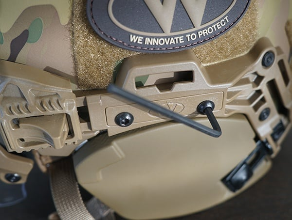 Team Wendy Exfil Ballistic Sl Helmet Installed Magpul Moe Rail On Side