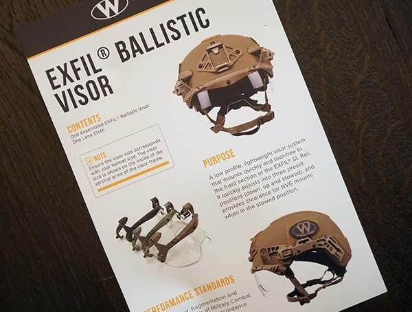 Team Wendy Exfil Ballistic Visor Information