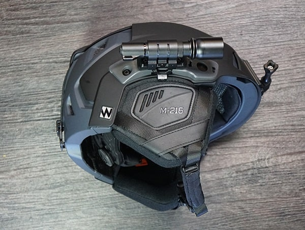 Team Wendy M 216 Helmet Reviews With Flashlight Rail Mounted On Side