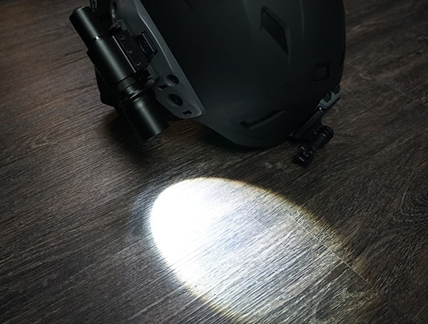 Team Wendy M 216 Helmet With Coast Hp5r Flashlight On Rail