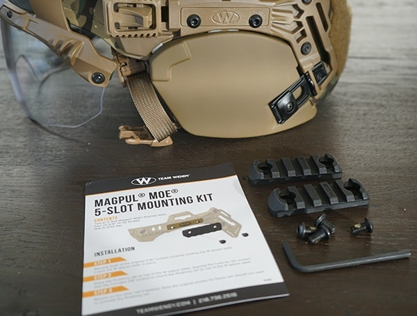 Team Wendy Magpul Moe 5 Slot Mounting Kit Helmet Rail System