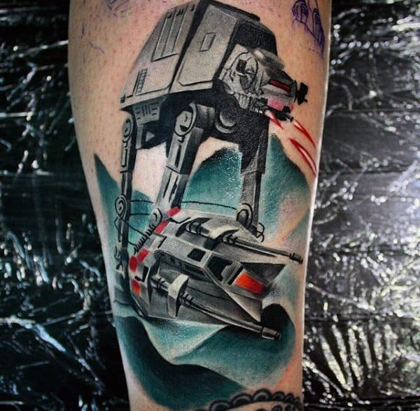 Technical Tattoo Star Wars Male Forearms