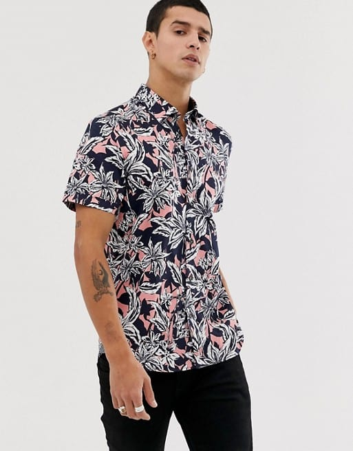 ted baker shirt with hawaiian floral print