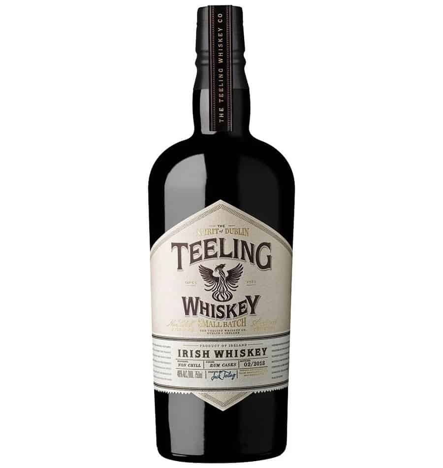teeling small batch irish whiskey bottle