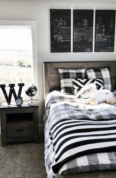 black and white boys bedroom ideas
