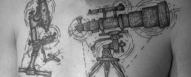 Telescope Tattoo Designs For Men