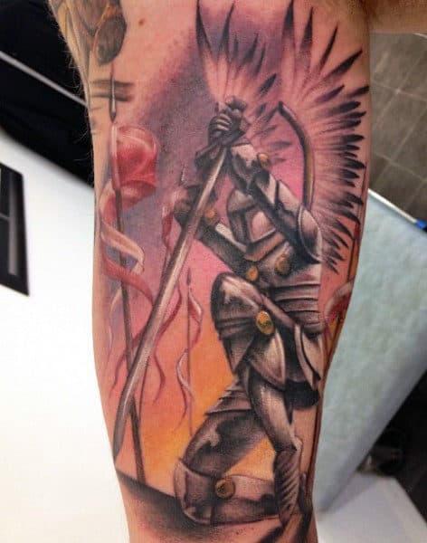 Templar Knights Tattoo For Men