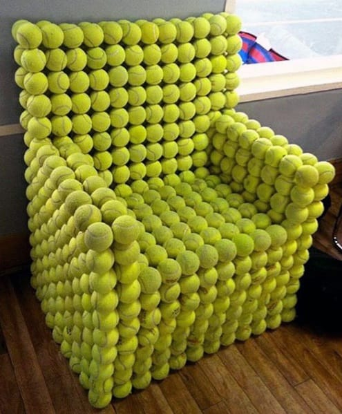 Tennis Ball Chair Bachelor Pad Furniture Inspiration