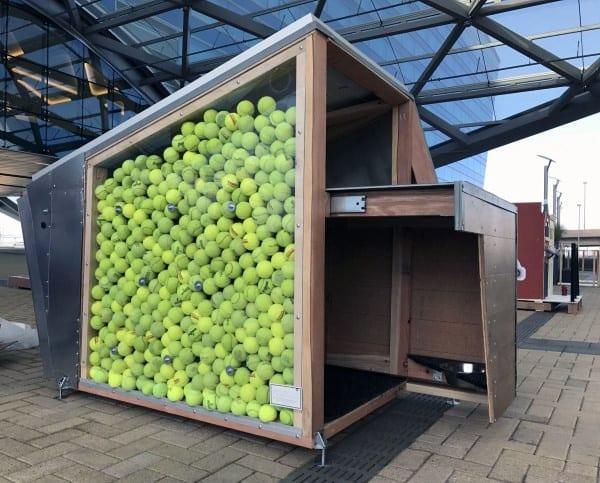 Tennis Ball Wall Dog House Ideas