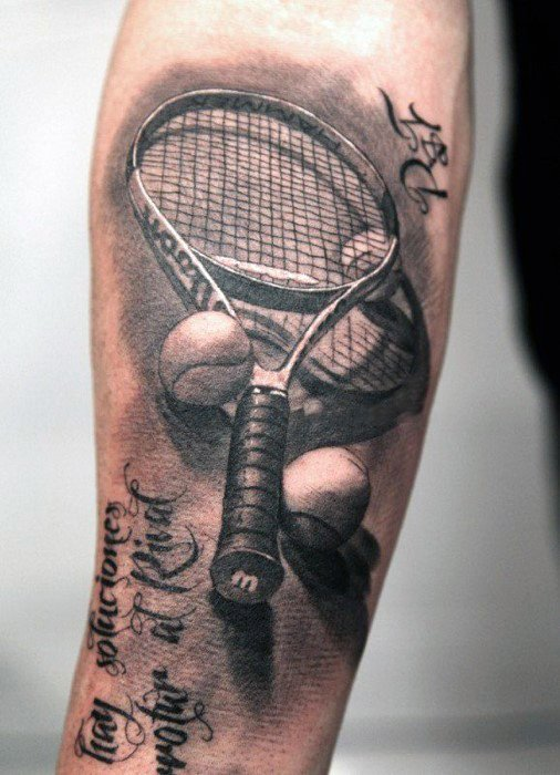 Tennis Mens Tattoo Sports Design