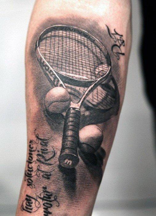 Tennis Mens Tattoo Sports Design