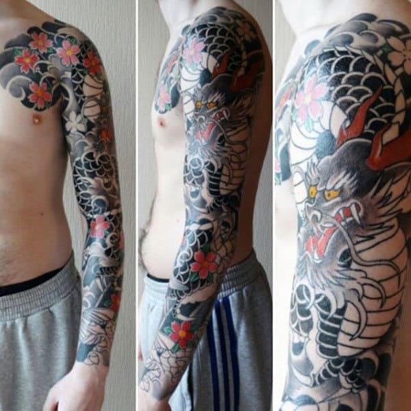 Terrifying Japanese Sleeve Tattoo Guys