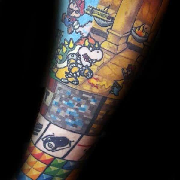 Tetris Guys Tattoo Ideas On Forearm