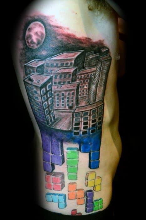 Tetris Tattoo Video Game Designs For Guys