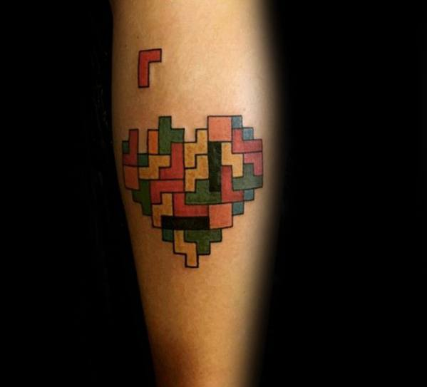 Tetris Tattoos For Gentlemen