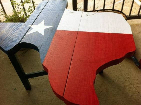 Texas State Flag Shaped Wood Coffee Table Guys Cheap Man Cave Ideas