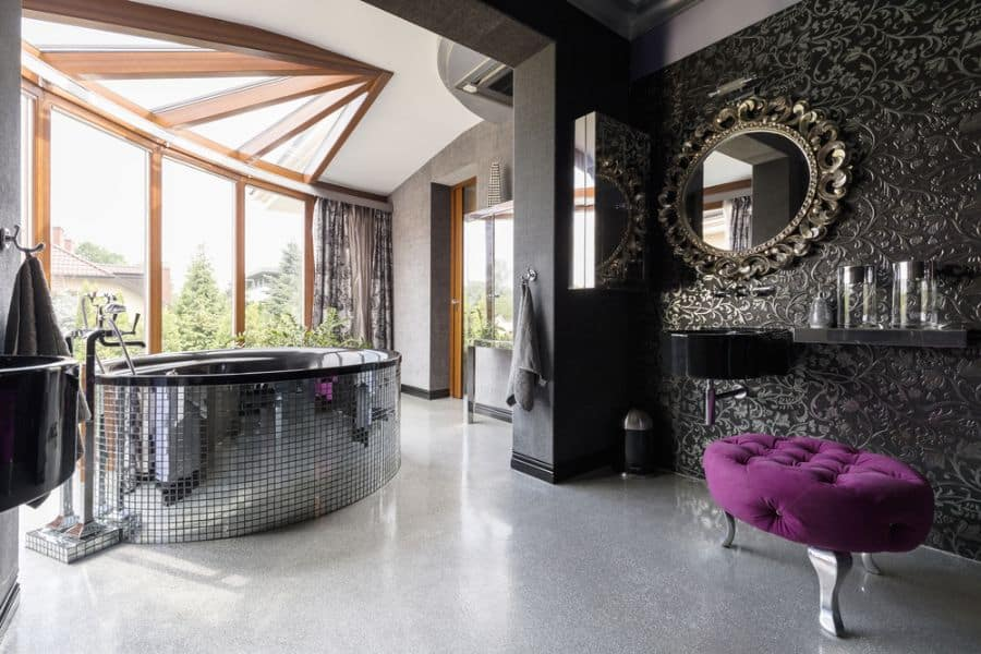 Textured Bathroom Wallpaper Ideas 1