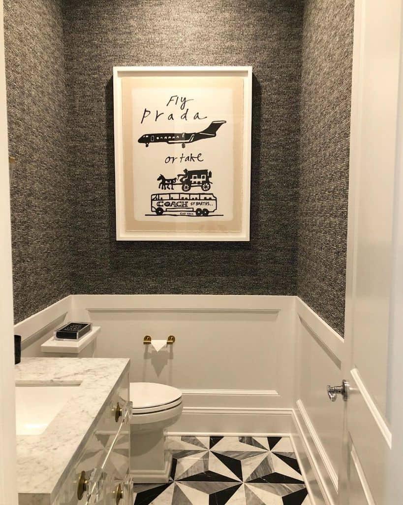 Textured Bathroom Wallpaper Ideas Blakeandemilyinteriors