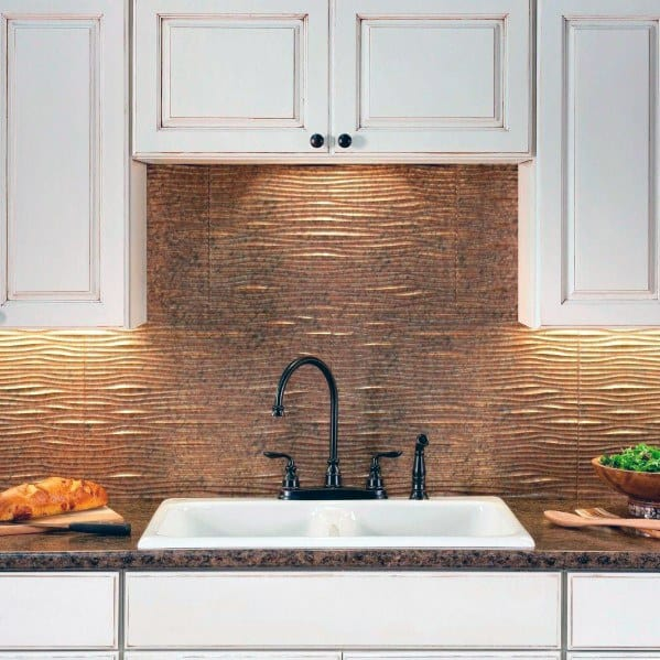 Textured Copper Home Ideas Metal Backsplashs