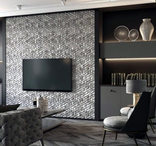 Textured Pattern Contemporary Home Ideas Television Walls