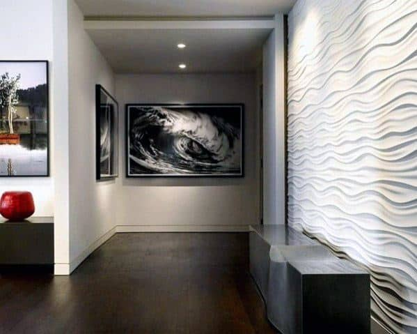 Textured Wall Interior Design Wavy