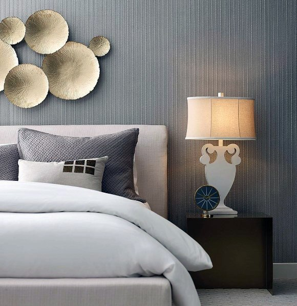 wooden and metal bedroom wall decor ideas