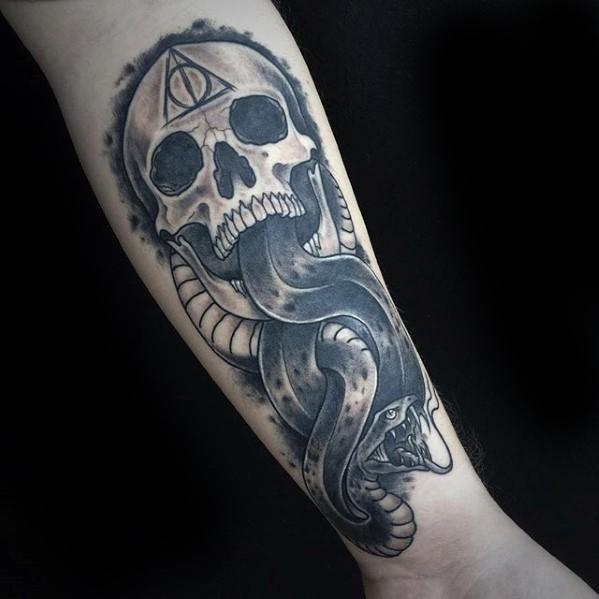 The Dark Mark Guys Tattoo Ideas Harry Potter Forearm