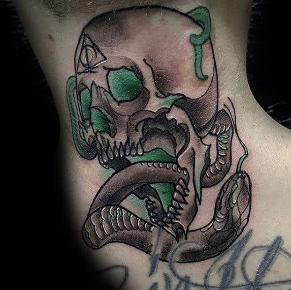 The Dark Mark Male Neck Tattoos