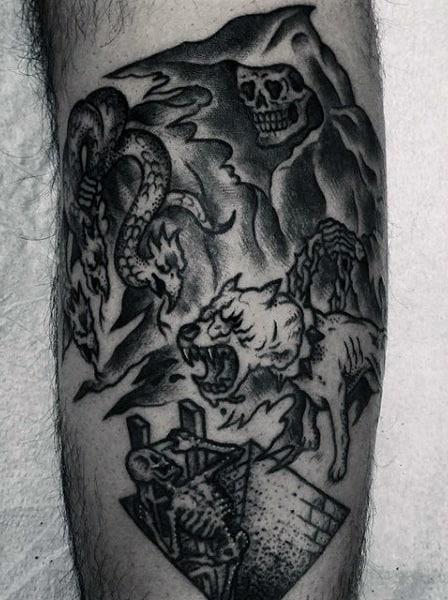 The Grim Reaper Tattoos For Men