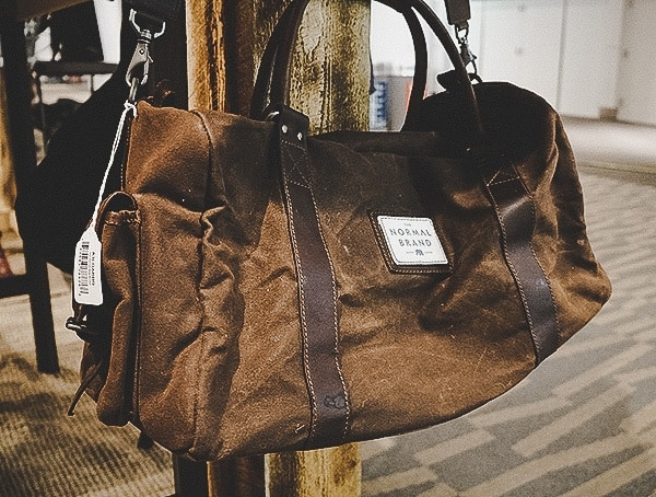 The Normal Brand Waxed Canvas Duffle Bag